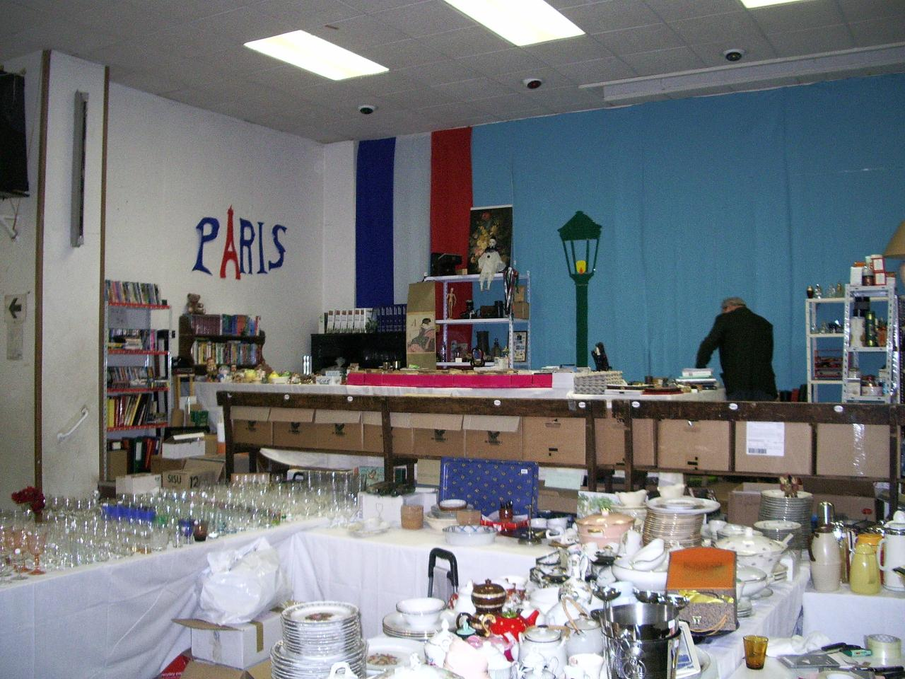 "Les rayons ""collections"" et ""verres"""