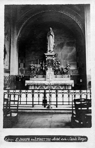 1909 autel de gauche (Ste Marie)