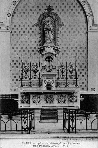 1909 maitre autel